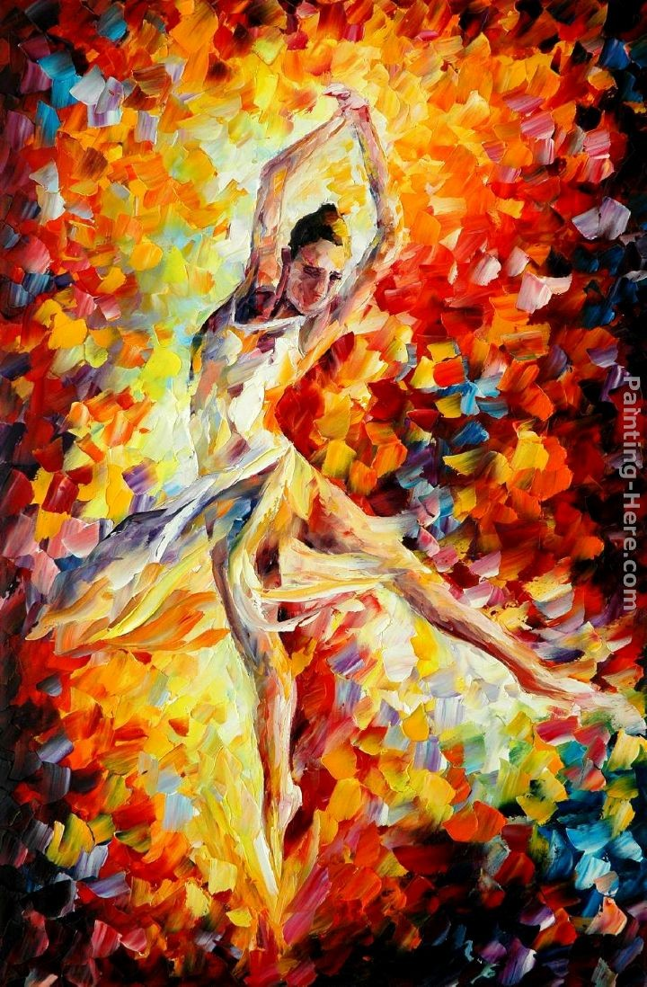 Leonid afremov candle fire painting best paintings for sale for Best painting images