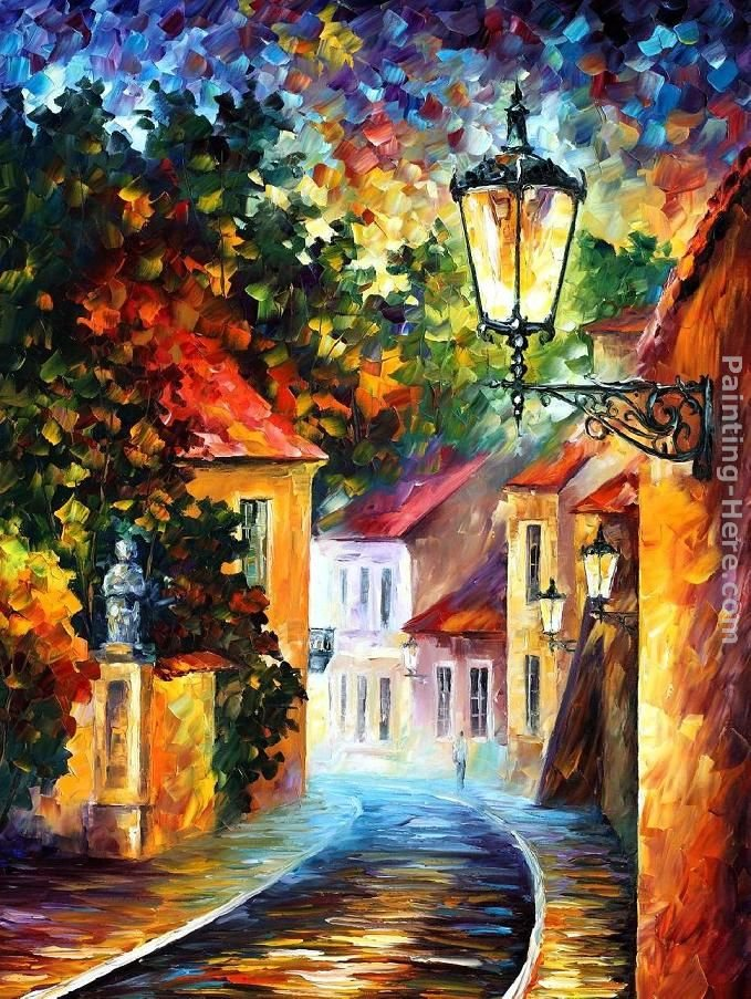 Leonid afremov evening painting best paintings for sale for Big artwork for sale