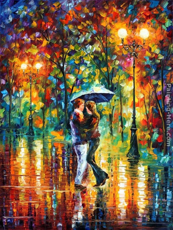 Leonid afremov rainy dance painting best paintings for sale for Best mural artists