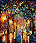 palette knife paintings - BEFORE THE CELEBRATION by Leonid Afremov