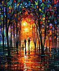 Leonid Afremov DARK PARK painting