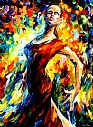 Leonid Afremov IN THE STYLE OF FLAMENCO painting