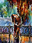 Leonid Afremov KISS AFTER THE RAIN painting