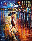Leonid Afremov LATE RETURN painting