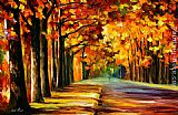 Leonid Afremov OAK ALLEY painting
