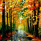 Leonid Afremov THE RAIN IS GONE painting