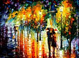 palette knife paintings - TWO COUPLES by Leonid Afremov