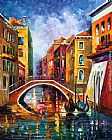 Leonid Afremov VENICE BRIDGE painting