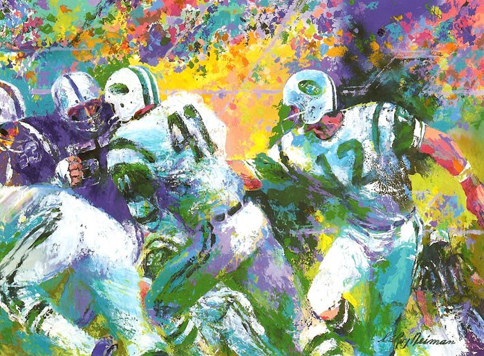 Leroy Neiman The Handoff Superbowl III