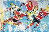 Leroy Neiman Bruins Flyers painting