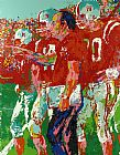 Leroy Neiman Coach Devaney painting