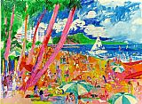 Leroy Neiman Diamond Head Hawaii painting