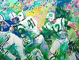 Leroy Neiman Hand Off Superbowl III painting