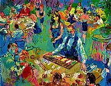 Leroy Neiman High Stakes Blackjack Vegas painting
