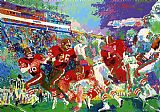 Leroy Neiman Post Season Football Classic painting