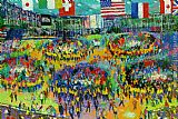 Leroy Neiman The Chicago Mercantile Exchange painting