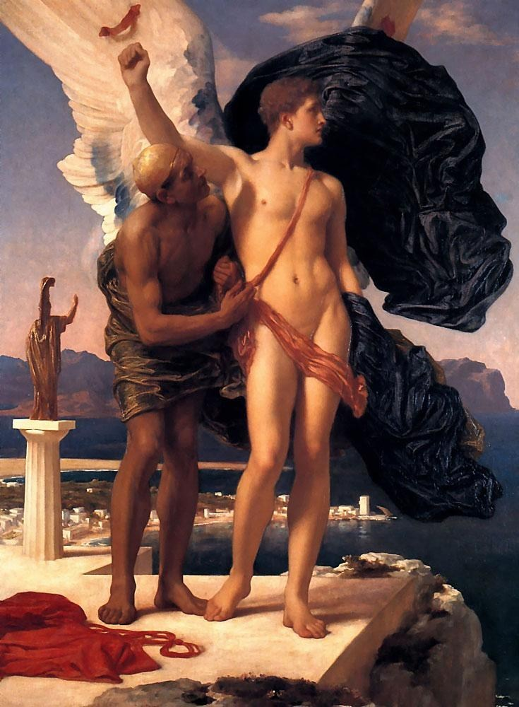 Lord Frederick Leighton Daedalus and Icarus