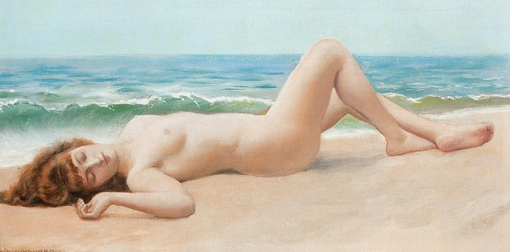Lord Frederick Leighton Nude on the Beach