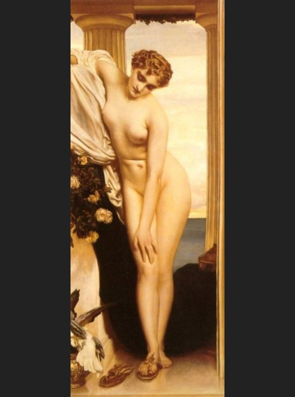 Lord Frederick Leighton Venus Disrobing for the Bath