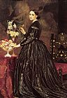 lord frederick leighton Paintings - Mrs James Guthrie