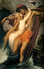 lord frederick leighton Paintings - The Fisherman and the Syren