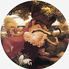 Lord Frederick Leighton The Garden of the Hesperides painting