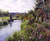 Louis Aston Knight flowers in bloom painting