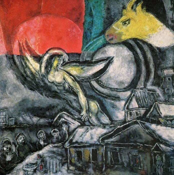 Marc Chagall La Mariee Painting | Best Paintings For Sale