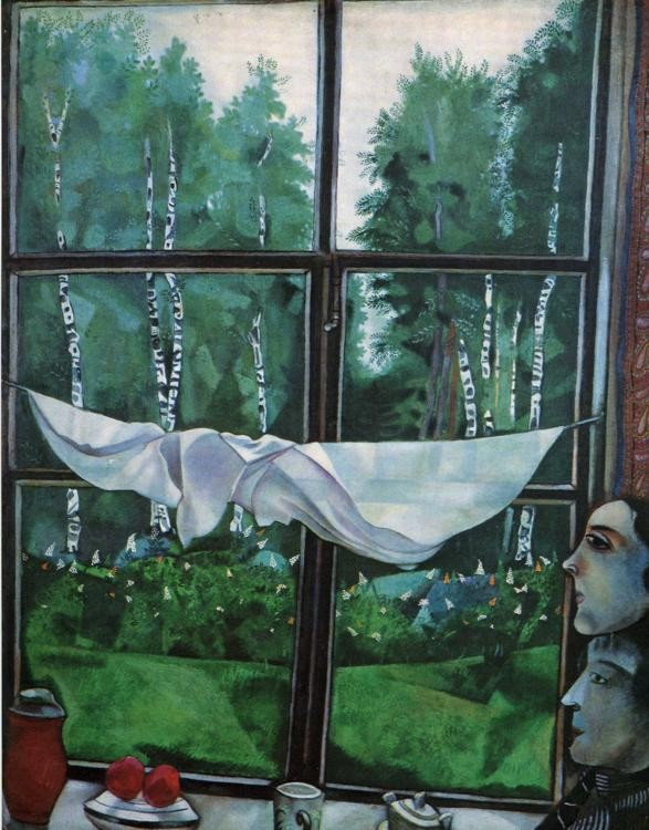 Marc Chagall Window in the Country
