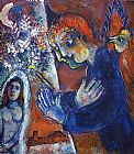 Marc Chagall Artist at Easel painting