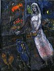 Marc Chagall Newlyweds and Violinist painting