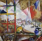 building paintings - Paris Through the Window by Marc Chagall