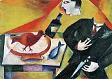 Marc Chagall The Drunkard painting