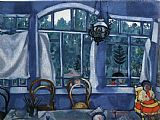 Marc Chagall Window over a Garden painting