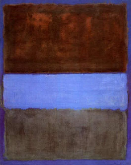 61 Best Images About Native Americans On Pinterest: Mark Rothko No 61 Brown Blue Brown On Blue C1953 Painting