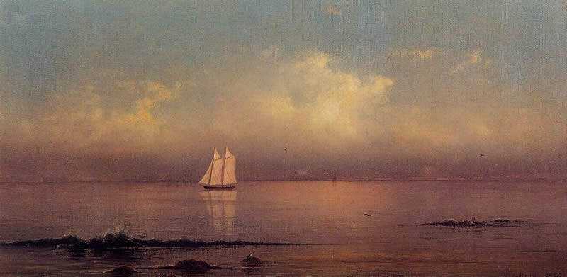 Martin Johnson Heade Becalmed, Long Island Sound