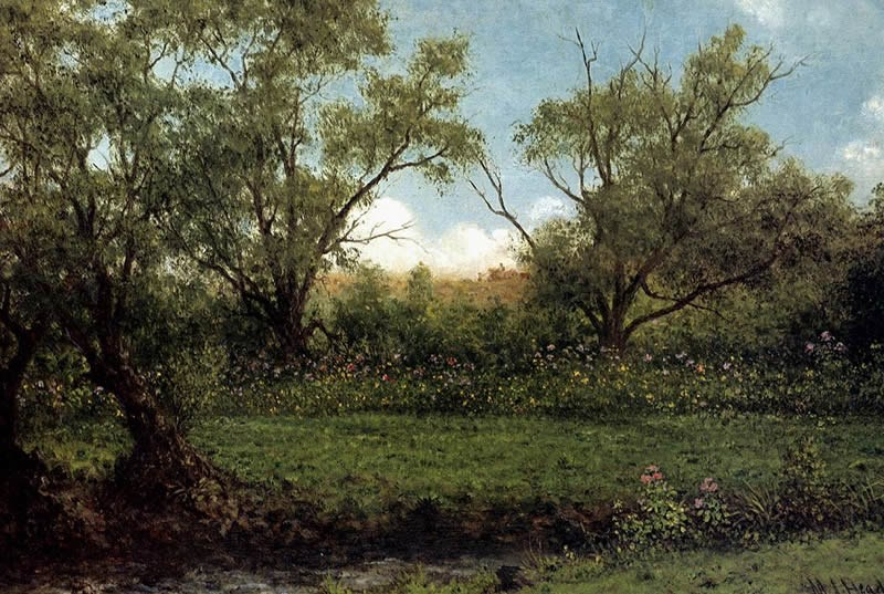 Martin Johnson Heade Brookside Asters In A Field