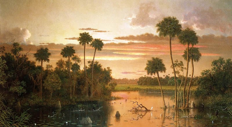 Martin Johnson Heade The Great Florida Sunset