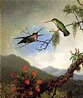 Martin Johnson Heade Amethyst Hummingbirds painting