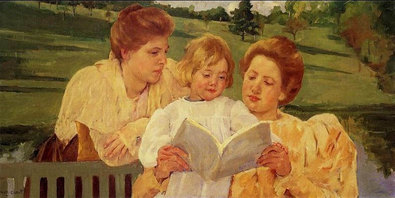 Mary Cassatt The Garden Reading