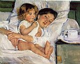 Mary Cassatt Breakfast in Bed painting