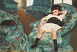 Mary Cassatt Little Girl in a Blue Armchair 1878 painting