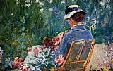 Mary Cassatt Lydia Seated In The Garden With A Dog In Her Lap painting