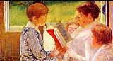 Mary Cassatt Mrs Cassatt Reading to her Grandchildren, 1888 painting