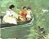 Mary Cassatt On The Water painting