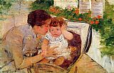 Mary Cassatt Susan Comforting the Baby 1881 painting