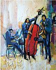 Mediterranean paintings - The Passion of Music by Maya Green