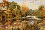 Michael Longo Autumnal Reflections painting