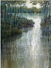 Michael Longo Pond Reflections painting