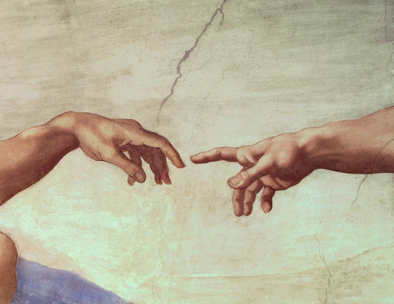 Michelangelo Buonarroti The Creation of Adam hand